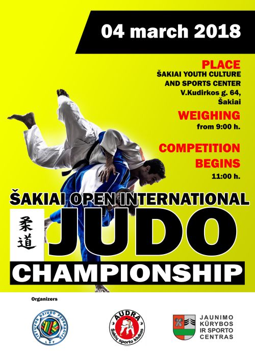 Šakiai open international judo championship