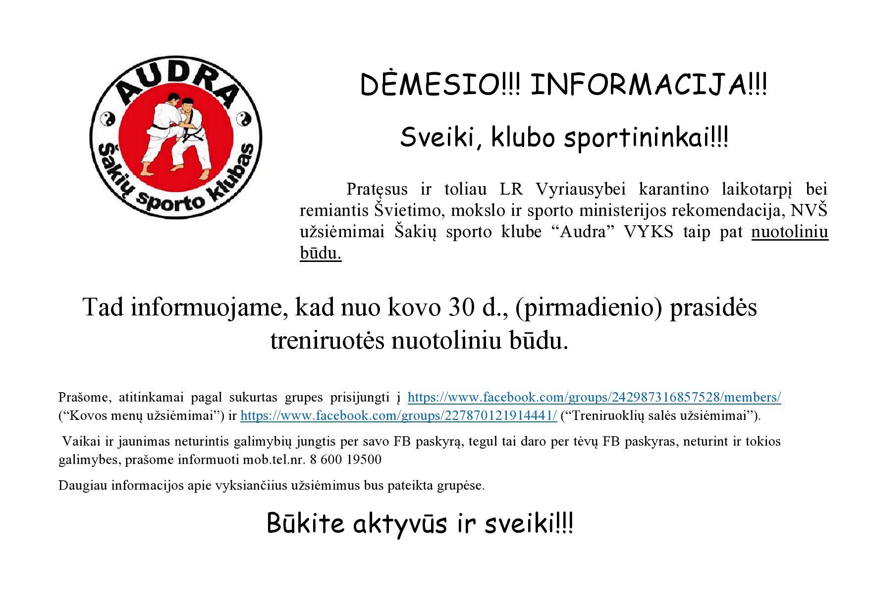 Dėmesio!!! Informacija!!!