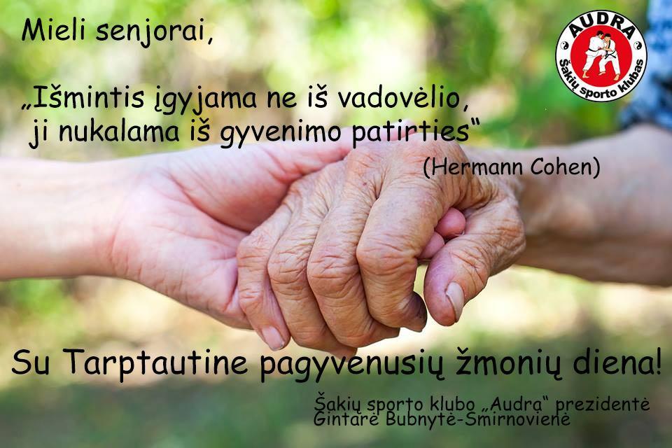 Sveikiname su Tarptautine pagyvenusių žmonių diena!